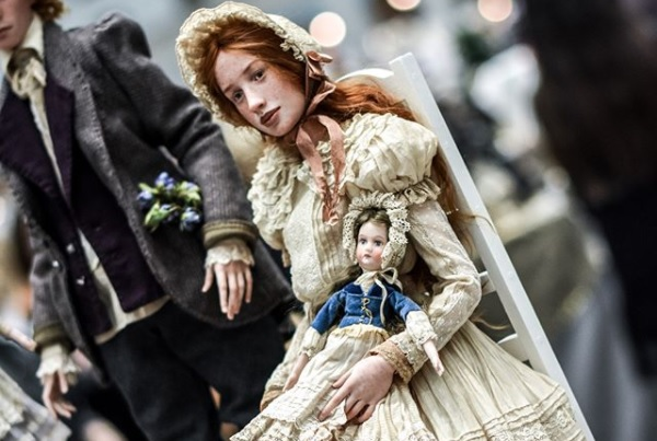 realistic victorian doll polymer clay