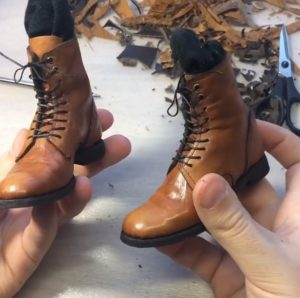 mini doll leather victorian boots