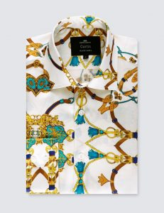 mens hawes and curtis luxury silk shirt