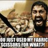 you used my sewing scissors for what?