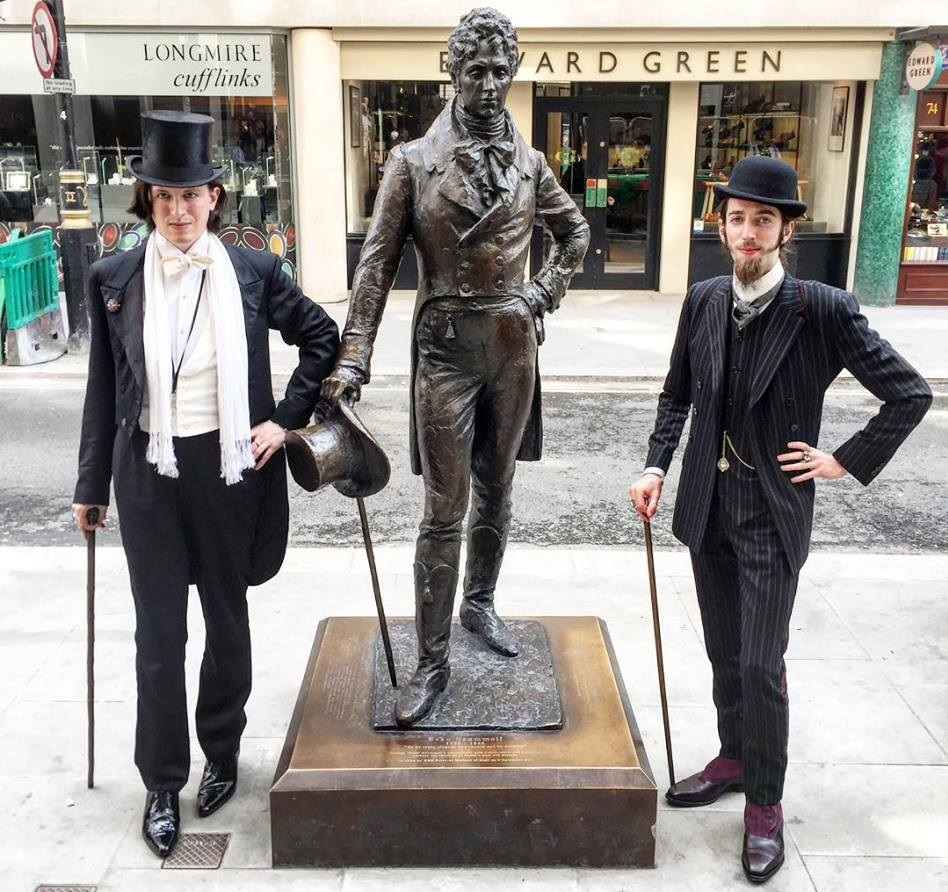 Dandy drinking club beau brummell