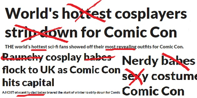 Stop sexualising cosplayers!