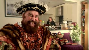 Brian Blessed as Tudor king Henry 8.0