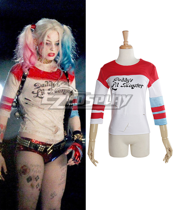 35eed40acded DC Comic Batman Harley Quinn Cosplay Costume Suicide Squad Daddy's Lil  Monster Tee Shirt