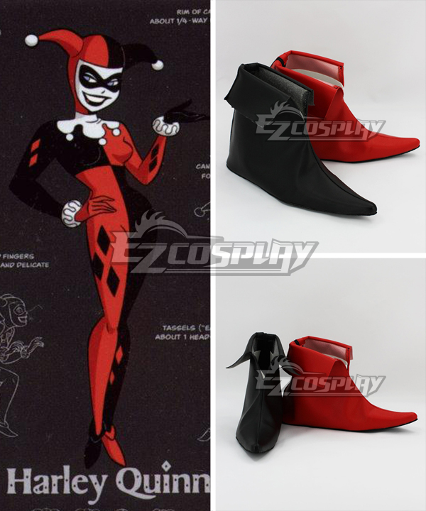 96af40a216eb26 DC Comics Batman Arkham Asylum Harley Quinn Joker Cosplay Shoes ...