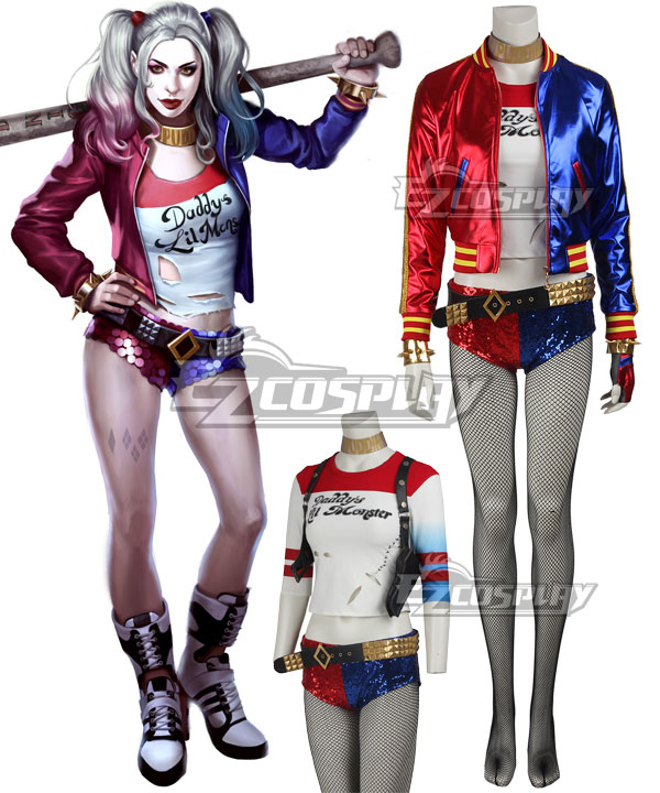 e542c7cc8795 DC Detective Comics Batman Suicide Squad Task Force X Harley Quinn 2016  Movie Cosplay Costume –