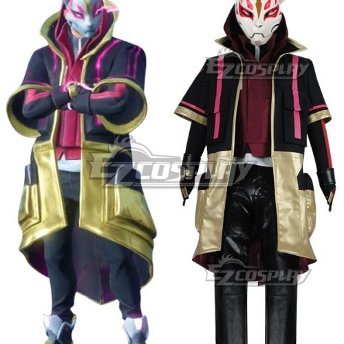 Fortnite Battle Royale Season 5 Drift Skins Halloween Cosplay Costume - Mask Free