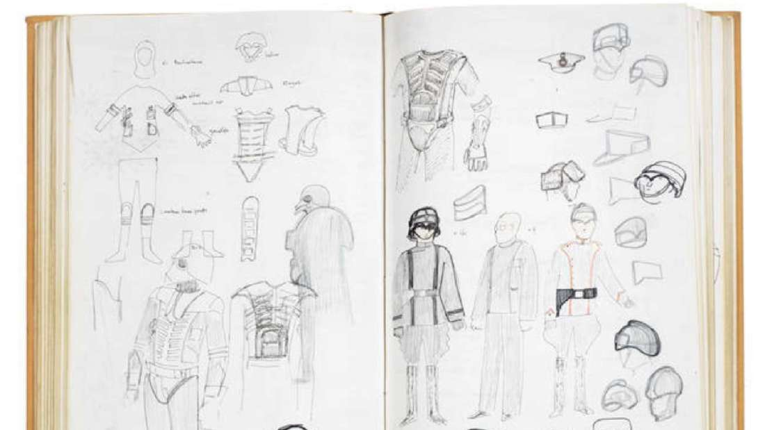 Original Star Wars Costume Sketches Are Going Up for Auction