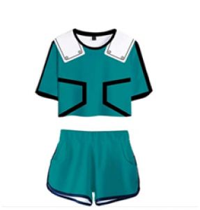Piece My Hero Academia Women Crop Top and Short Pants Sets