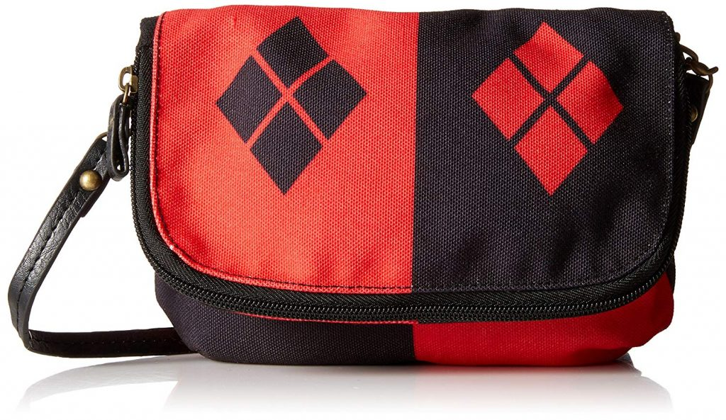 Black & Red diamond purse