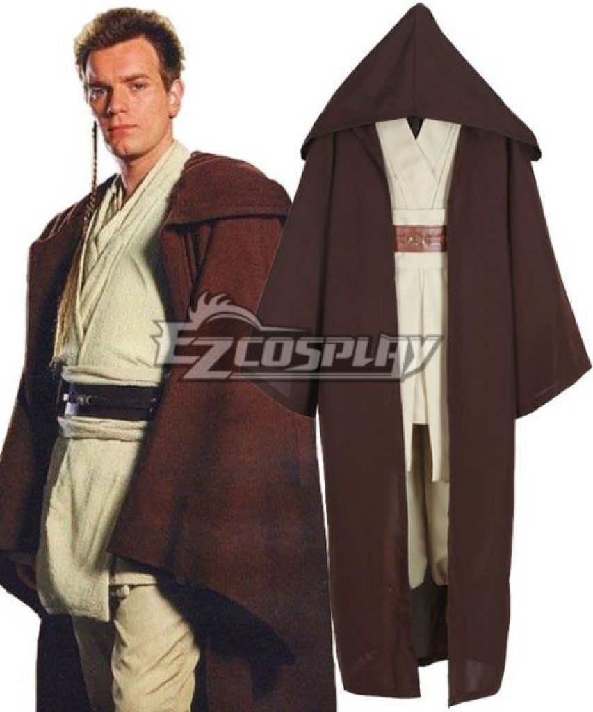 Star wars obi wan jedi robe costume