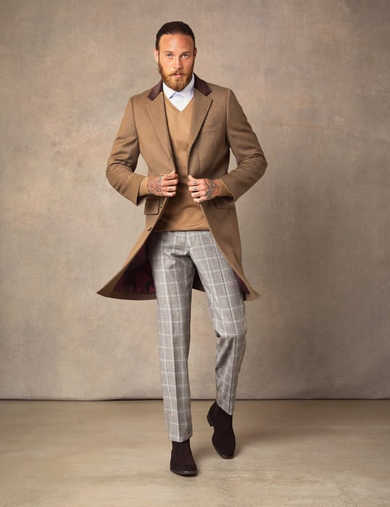 men's hawes and curtis overcoat