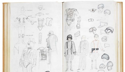 Original Star Wars Costume Sketches For Sale