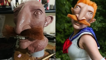 Cosplayer Creates Horrifyingly Good Nigel Thornberry Sailor Moon Cosplay Mask