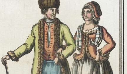 Diplomat Captured Costumes of Diverse Classes and Cultures in 1797